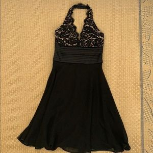 EUC Black cocktail dress with beading size 4